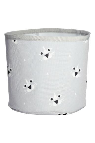 petit panier de rangement gris clair lion home all h m fr. Black Bedroom Furniture Sets. Home Design Ideas