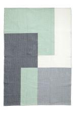 tapis en coton tiss jacquard vert menthe gris home all h m fr. Black Bedroom Furniture Sets. Home Design Ideas