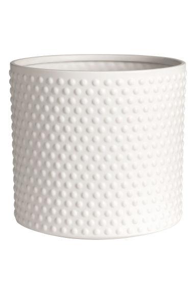 grand pot en gr s blanc home all h m fr. Black Bedroom Furniture Sets. Home Design Ideas