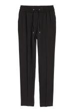 pantalon taille lastique noir femme h m fr. Black Bedroom Furniture Sets. Home Design Ideas