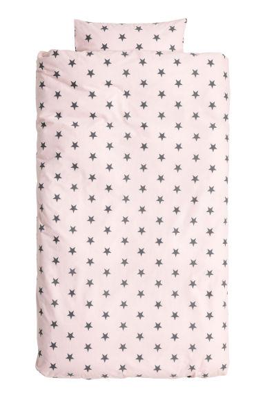 Funda n rdica motivo estrellas rosa claro h m es for Fundas nordicas h m