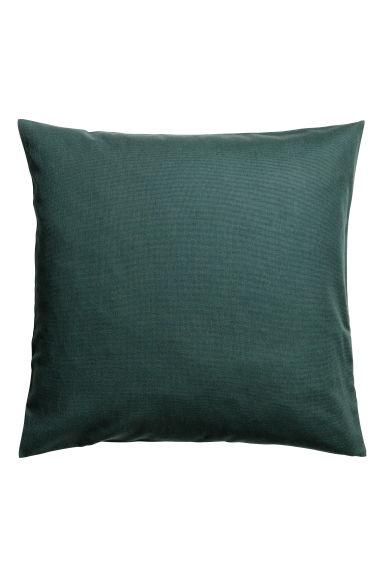 housse de coussin en coton vert fonc home all h m fr. Black Bedroom Furniture Sets. Home Design Ideas