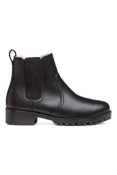 warm lined chelsea boots black ladies h m gb. Black Bedroom Furniture Sets. Home Design Ideas