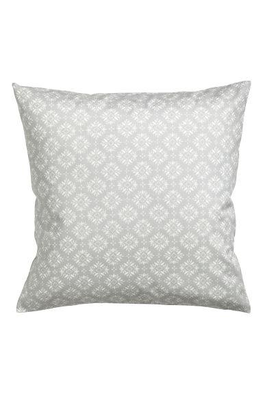 Housse de coussin motif gris clair home all h m fr - Taille coussin standard ...