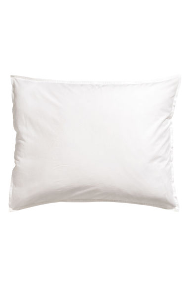 taie d 39 oreiller en coton lav blanc home all h m fr. Black Bedroom Furniture Sets. Home Design Ideas