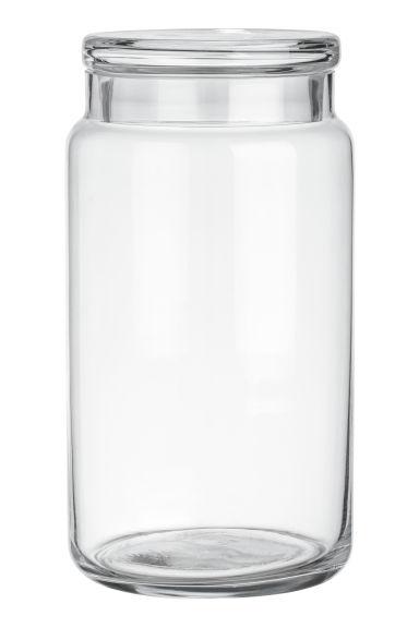 grand pot en verre verre transparent home all h m fr. Black Bedroom Furniture Sets. Home Design Ideas