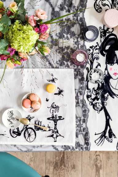 Chemin de table en dentelle - Gris - Home All | H&M FR 1