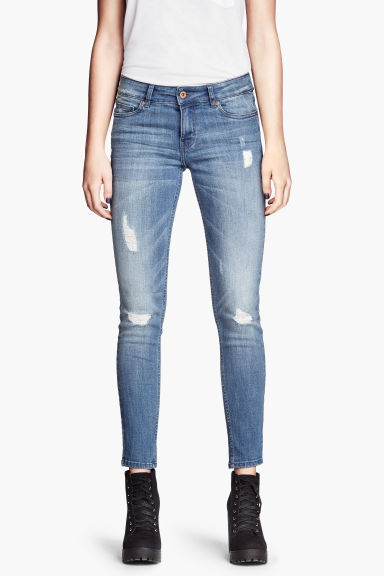 Jeans Super skinny fit - Blu denim chiaro - DONNA | H&M IT 1