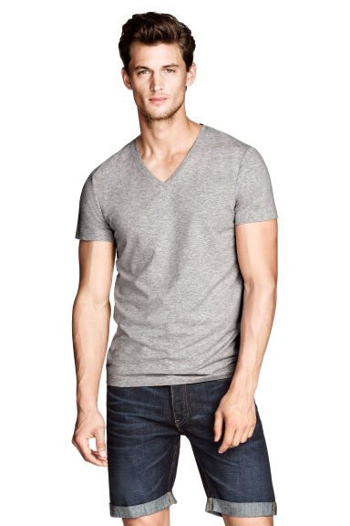 T-shirt stretch - Gris - HOMME | H&M FR 1