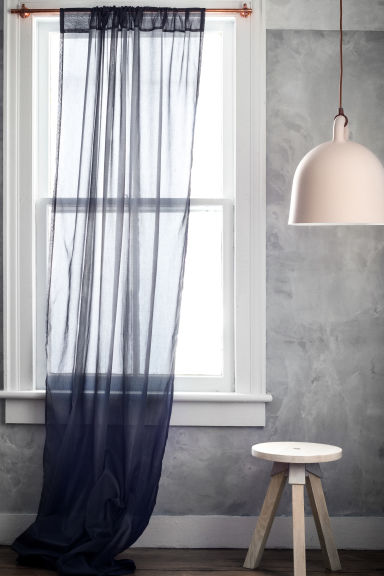 2-pack curtain lengths - Anthracite grey - Home All | H&M CN 1