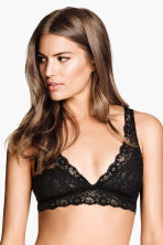 Non-wired lace bra - Black - Ladies | H&M CN 4