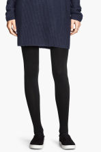 Fleece tights - Black - Ladies | H&M 3