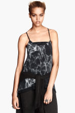 Top in chiffon - Nero/marmo - DONNA | H&M IT 1