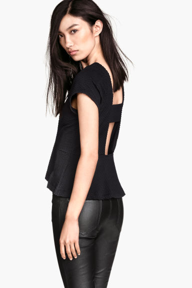 Top peplum - Nero - DONNA | H&M IT 1