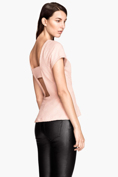 Top peplum - Rosa cipria - DONNA | H&M IT 1