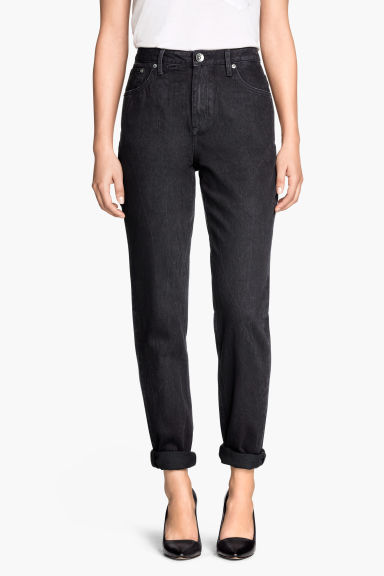 Mom Jeans - Negro - MUJER | H&M ES 1
