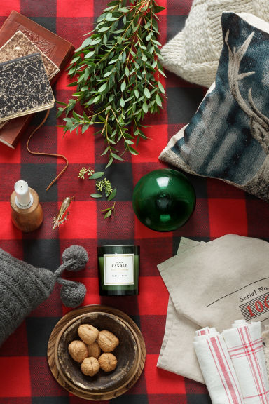 Plaid a quadri - Rosso - HOME | H&M IT 1