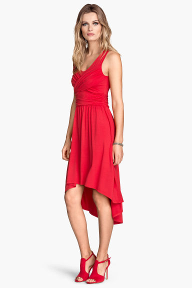Draped dress - Red - Ladies | H&M CN 1
