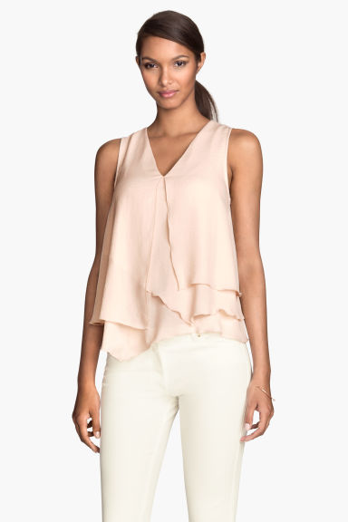 Asymmetric top - Powder - Ladies | H&M CN 1