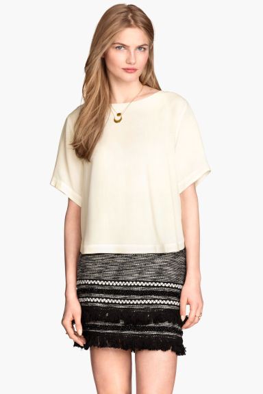 Top in tessuto - Bianco naturale - DONNA | H&M IT 1