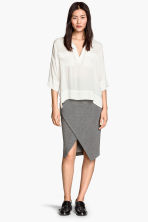Wraparound skirt - Dark grey - Ladies | H&M GB 1