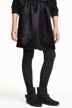 Tights with sparkly stones - Black - Kids | H&M CN 1
