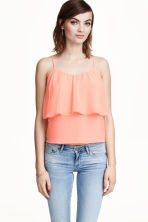 Tiered top - Apricot - Ladies | H&M CN 1