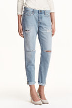 Boyfriend Low Jeans - Light denim blue - Ladies | H&M GB 1