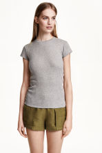 T-shirt a costine - Grigio - DONNA | H&M IT 1
