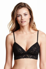 2-pack non-wired lace bras - Black/White - Ladies | H&M 2