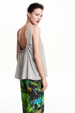 Jersey top - Light grey - Ladies | H&M CN 1