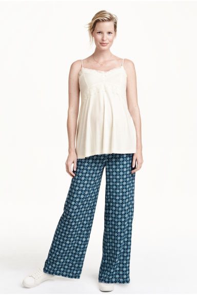 MAMA Pantaloni ampi - Blu scuro/fantasia - DONNA | H&M IT 1