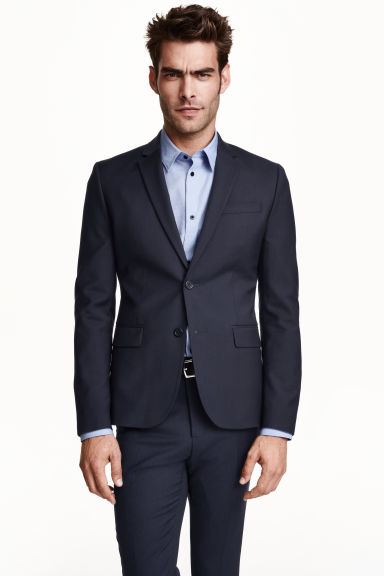 Blazer in lana - Blu scuro - UOMO | H&M IT 1
