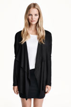 Fine-knit cardigan - Black -  | H&M CN 5