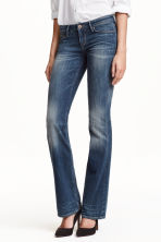 Boot cut Low Jeans - Denim blue - Ladies | H&M CN 1