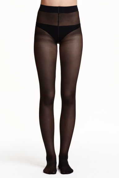 30-denier push-up tights Model