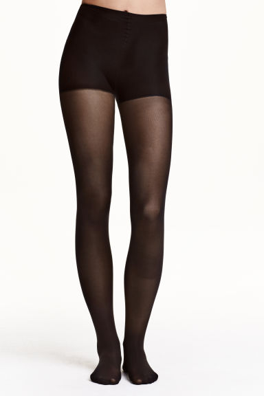 50 denier control top tights - Black - Ladies | H&M CN