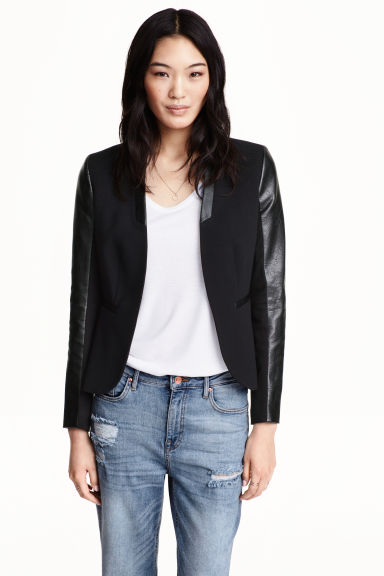 Figure-fit jacket - Black - Ladies | H&M CN 1