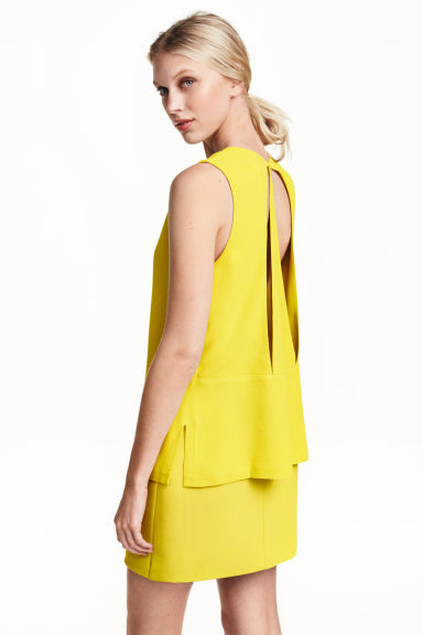Sleeveless blouse - Yellow - Ladies | H&M CN 1