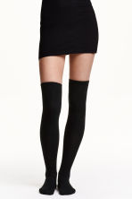 Over-the-knee socks - Black - Ladies | H&M IE 2
