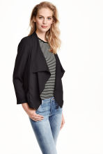 Draped jacket - Black - Ladies | H&M CN 1