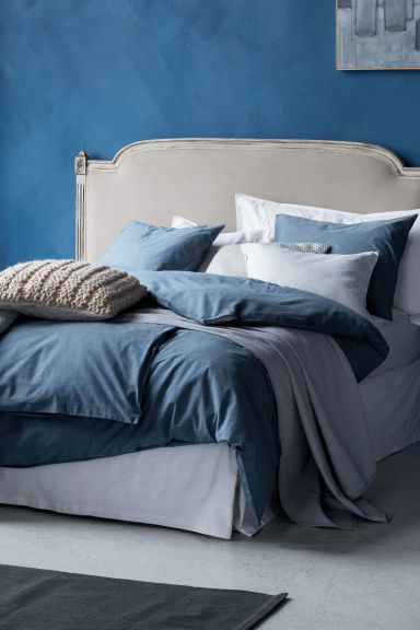 Set copripiumino in chambray - Grigio-blu - HOME | H&M IT 1