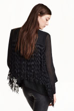 Fringed chiffon jacket - Black - Ladies | H&M CN 1