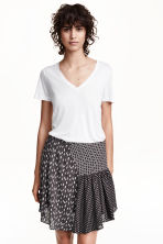 Gonna in tessuto jacquard - Nero/fantasia - DONNA | H&M IT 1