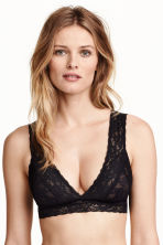 Non-wired lace bra - Black - Ladies | H&M CN 3