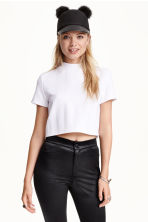 Crop top - White - Ladies | H&M CN 1