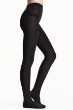 Fleece tights - Black - Ladies | H&M 1