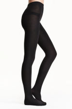 Fleece tights - Black - Ladies | H&M 2