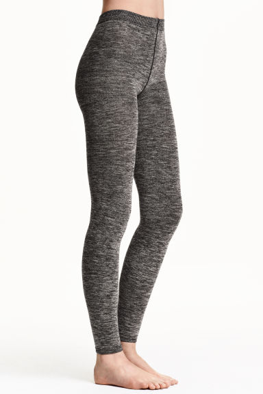 Fleece leggings - Grey marl - Ladies | H&M 1