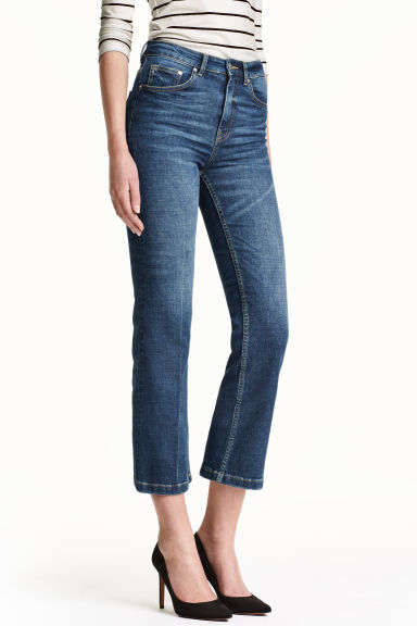 Vaqueros Cropped Flare High
